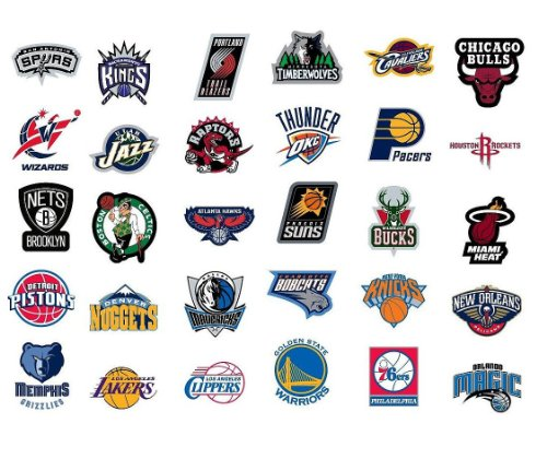 Nba National Basketball Association Team Logo Stickers