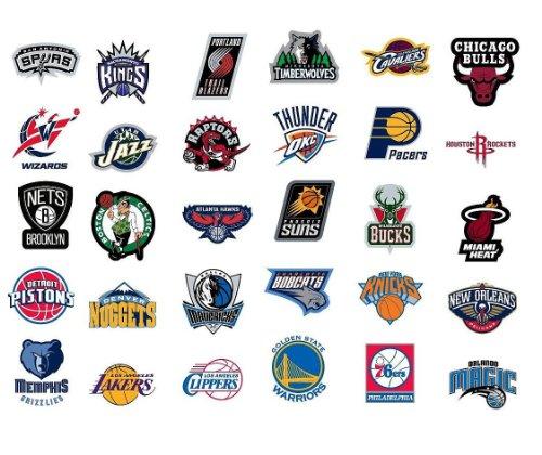Nba Teams: NBA * National Basketball Association Team Logo Stickers