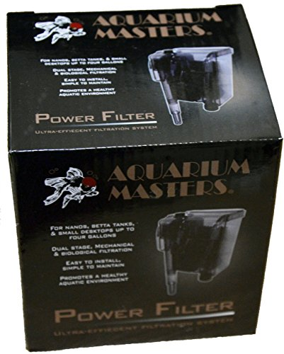 Nano Filter For Aquarium, Betta Tank, Small Desktop, Fresh Water & Saltwater Aquariums, And Terrariums Up to Four Gallons In Size - Power Filter