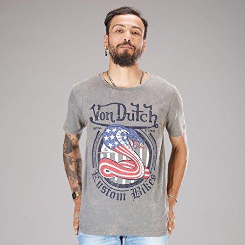 von-dutch-sna04-gris-mc-tee-tee-shirt-manga-corta-gris-xxl