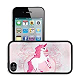 MSD Premium Apple iPhone 4 iPhone 4S Aluminum Backplate Bumper Snap Case IMAGE ID: 16060897 Vector Illustration of beautiful pink Unicorn