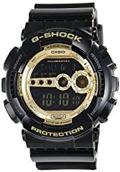 Casio G-Shock Digital Gold Dial Mens Watch - GD-100GB-1DR (G340)