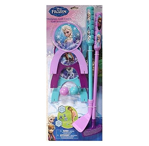 Disney Frozen Toy Golf Set for Indoor and Outdoor Fun! Includes Miniature Golf Course - 1