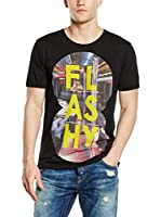 Guess Camiseta Manga Corta Flashy (Negro)