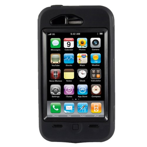 OtterBox Defender Case for iPhone 3G, 3GS (Black)[Retail Packaging]