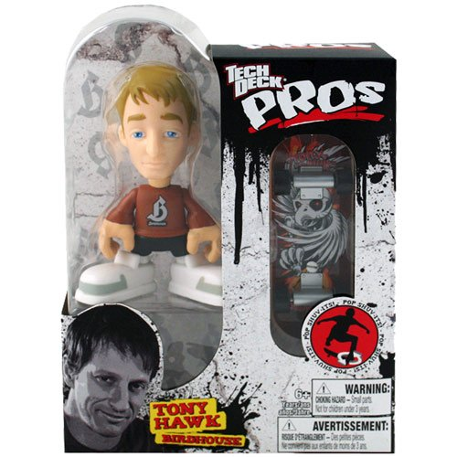 Tech Deck Pros Tony Hawk Figure with Skateboard Birdhouse