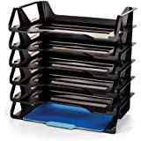 Achieva Side Load Letter Tray, Recycled, Black, 6 Pack (26212)