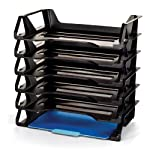 Officemate OIC Achieva Side Load Letter Tray, Recycled, Black, 6 Pack (26212)