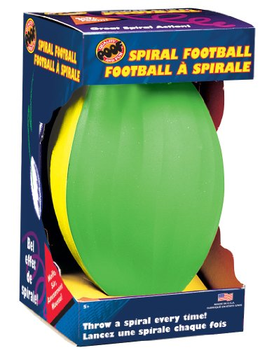 Poof-Slinky - Power Spiral Football With Box, Assorted Colors, 511