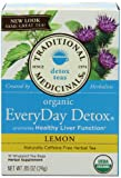 Traditional Medicinals Organic Everyday Detox Lemon, 16-Count Boxes (Pack of 6)