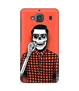 Amez designer printed 3d premium high quality back case cover for Xiaomi Redmi 2S (Hipster Skull)