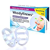 WoodyKnows イビキ予防/呼吸補助鼻腔拡張器 (3個入り、サイズ:大中小)
