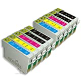 10 Compatible Printer Ink Cartridges for Epson Stylus SX515W - Cyan / Magenta / Yellow / Black