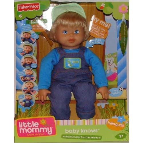 Amazon.com: Fisher Price BOY Little Mommy Baby Knows Interactive Doll