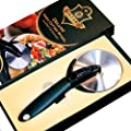 Vinzard - Deluxe Professional Pizza Cutter Wheel 3.5'' with Safe Blade Cover - Ultra Sharp Stainless Steel Blade Cheese Dough Cookies Pie Knife Slicer - Durable Anti-Slip Handle - Christmas GIFT