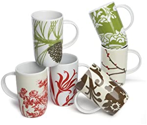 Rosanna Boho Mugs, Set of 6