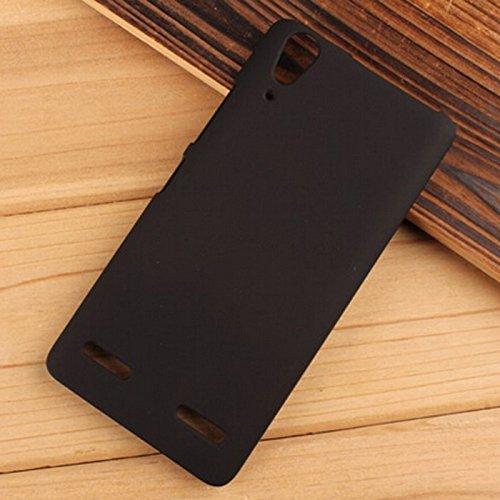 Koko Premium Rubberized Matte Hard Back Cover For Lenovo A6000 4G -black