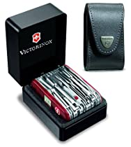 Victorinox 53509-SET SwissChamp XAVT Swiss Army Knife with 33269 Leather Pouch