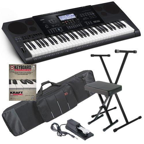 Casio CTK-7200 Electronic Keyboard BONUS PAK w/ Earbuds