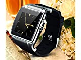 Silver Hiwatch Second Generation Bluetooth 3.0 1.55 Inch Touch Screen Smart Watch Phone