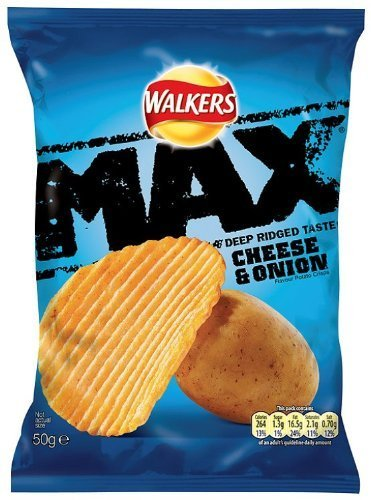 Walkers Max (50gx24) (Cheese & Onion) (Max And Cheese compare prices)