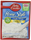 Betty Crocker Home Style Frosting Mix, Fluffy White, 7.2-Ounce Boxes (Pack of 12)