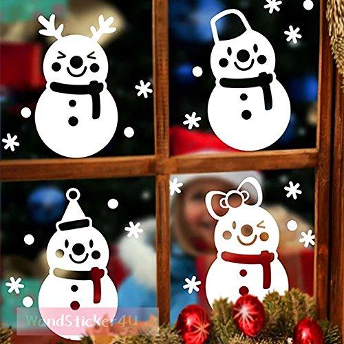 wandsticker4u-imagen-ventana-4-munecos-de-nieve-alegres-con-los-copos-de-nieve-efectos-de-imagen-65-