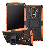 LG G4 Case, Sophia Shop Heavy Duty Tough Rugged Dual Layer Case with Built-in Kickstand, TANK Series Slim Fit Dual Layer Hybrid Armor Protective Case Cover for LG G4 ToughBox Carrier Compatibility AT&T, Verizon, T-Mobile, Sprint, And All International Carriers (Orange)