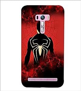 PrintDhaba Spider D-2606 Back Case Cover for ASUS ZENFONE SELFIE ZD551KL (Multi-Coloured)