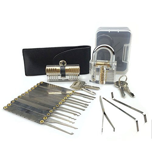 tomkity-kit-de-crochetage-lockpicking-set-complet-de-15-pieces-avec-2-serrures-dentrainement-un-cade