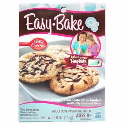 For Use In Your Easy Bake Oven Or Real Meal Oven - Hasbro Easy Bake Oven Fudgy Chocolate Chip Cookie Mixes