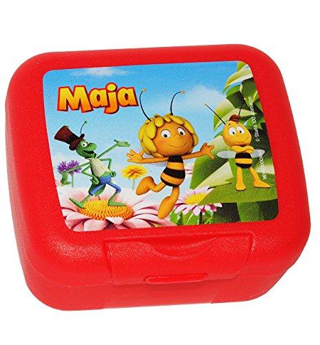 """2 in 1: Keksdose / Zahnspangendose / Obstbox - """" die Biene Maja / Willi & Flip """" Box - Küche Essen / für Mädchen & Jungen - Bienen Honig Kinder Vesperdose - Keksbox & Zahnspangenbox"""