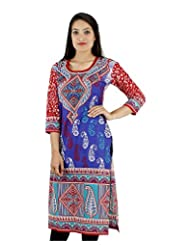 D2Nine Women's Cotton Round Neck Kurti - B0110HTV9M