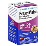 Bausch & Lomb PreserVision Eye Vitamin & Mineral, AREDS, Soft Gels, 60 softgels