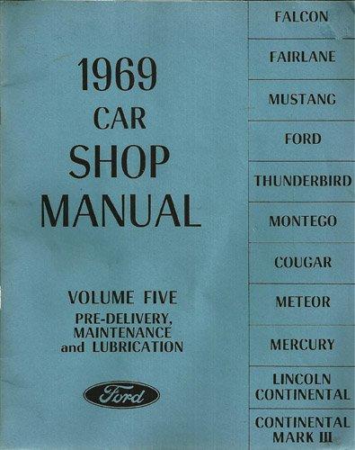 1969 car shop manual 5 volume set falcon fairlane. Black Bedroom Furniture Sets. Home Design Ideas