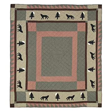"Wolf Trail Quilt King 105""x 95"" QKWOTR by Patch Magic"