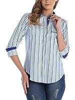 SIR RAYMOND TAILOR Camisa Mujer (Turquesa / Blanco)