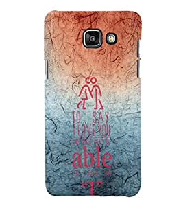 EPICCASE red and blue Mobile Back Case Cover For Samsung Galaxy A5 (2016) (Designer Case)