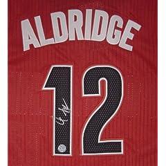 LaMarcus Aldridge Portland Trail Blazers Autographed Red #12 Jersey
