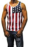 Patriotic American Flag Stripes And Stars Tank Top Shirt Adult Men's