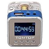 Andoer Mini Digital tragbare Lautsprecher Musik-MP3 / 4 Player Micro SD / TF USB Disk FM Radio mit Teleskopantenne und Kopfhörerausgang Funktionen (Blau)