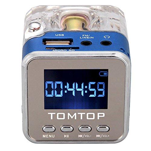 Andoer-Mini-Digital-tragbare-Lautsprecher-Musik-MP3-4-Player-Micro-SD-TF-USB-Disk-FM-Radio-mit-Teleskopantenne-und-Kopfhrerausgang-Funktionen-Blau