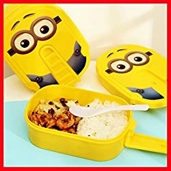 Kids MandiTMNew High Quality Minions Microwave Lunch Box For Kids Lunch box Food Container Thermos Box Container Tableware