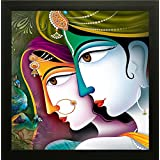 SAF Krishna Painting    Radha Krishna Painting    Krishna Poster    Krishna Wall Stickers    SAF Exclusive Framed Wall Art Paintings For Living Room And Bedroom. Frame Size (12 Inch X 12 Inch, (Wood, 30 Cm X 3 Cm X 30 Cm, Special Effect Textured)