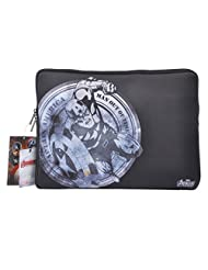 Thrumm Avengers Capt America 13.3-Inch Sleeve For MacBook (Black/White)