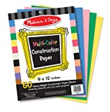 Melissa & Doug Multi-Color Construction Paper, 9-Inch x 12-Inch