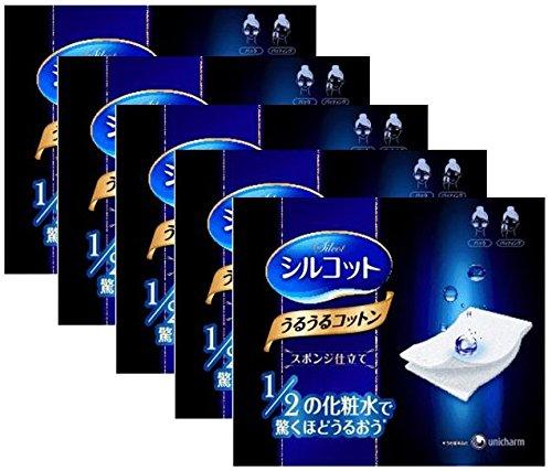 COSME大赏得主,尤妮佳1/2超吸收化妆棉,水感海绵成份