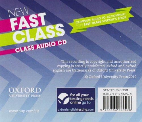 New Fast Class:: First Certificate Fast Class: Class Audio CD Edition 10