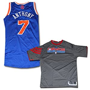 Carmelo Anthony Jersey Warmup Shirt - NY Knicks 2012-2013 Season Game Used Blue... by Steiner Sports