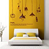 StickersKart Wall Stickers Bedroom Crazy Lamps (Multi-Colour, 130cm x 110cm)-7176